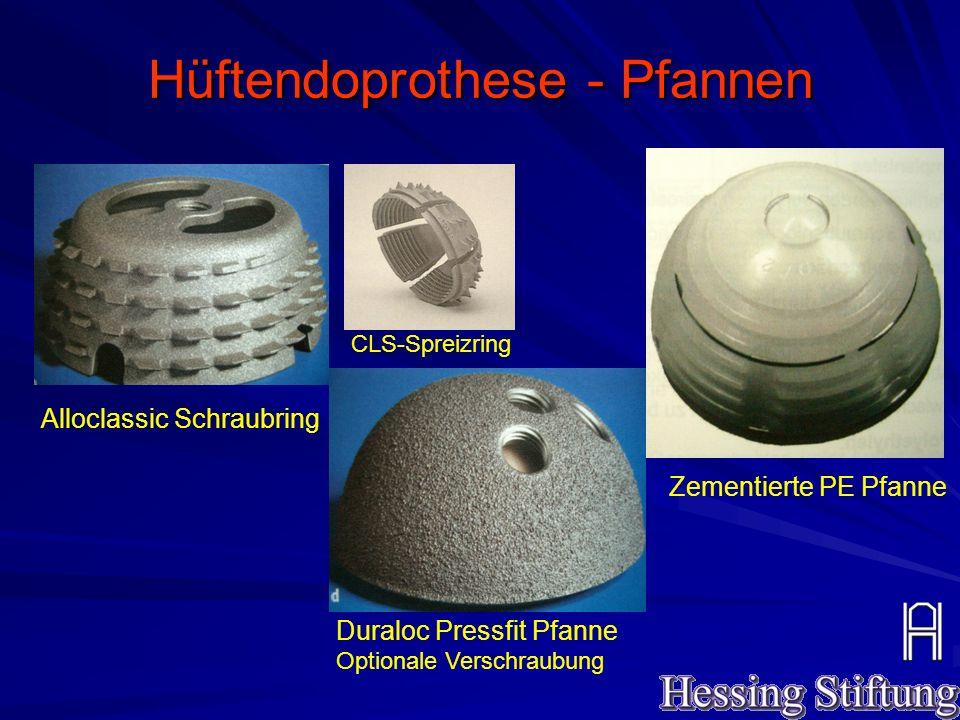 Hüftendoprothese - Pfannen
