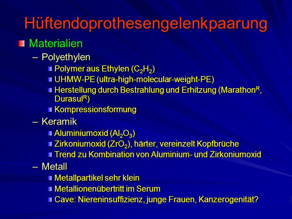 Hüftendoprothesengelenkpaarung