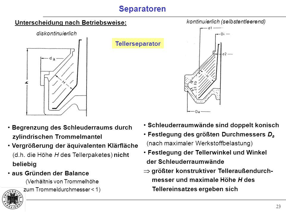 (Verhältnis von Trommelhöhe zum Trommeldurchmesser < 1)