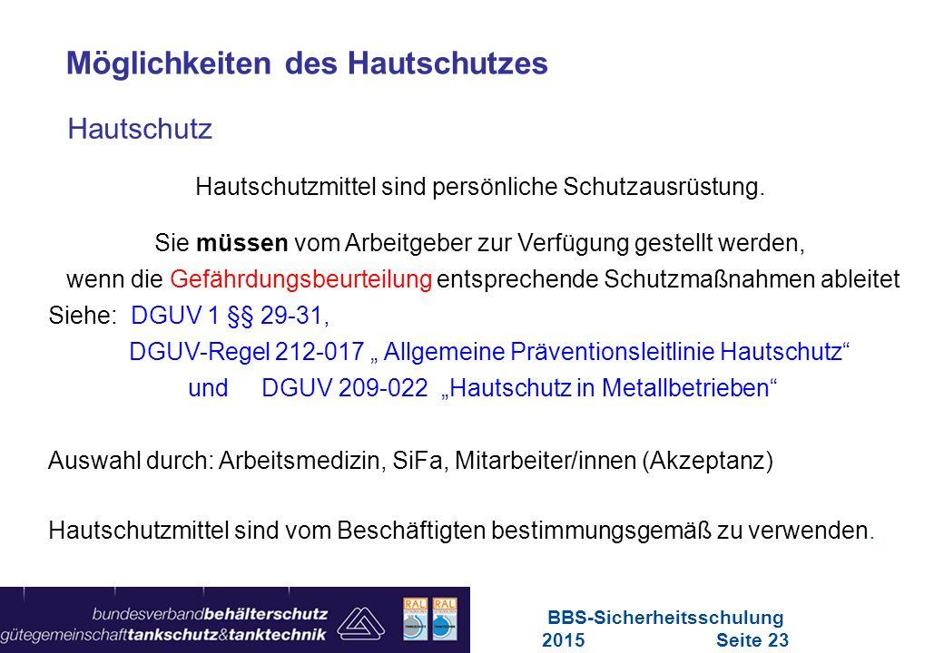 BBS-Sicherheitsschulung 2015 Seite 23