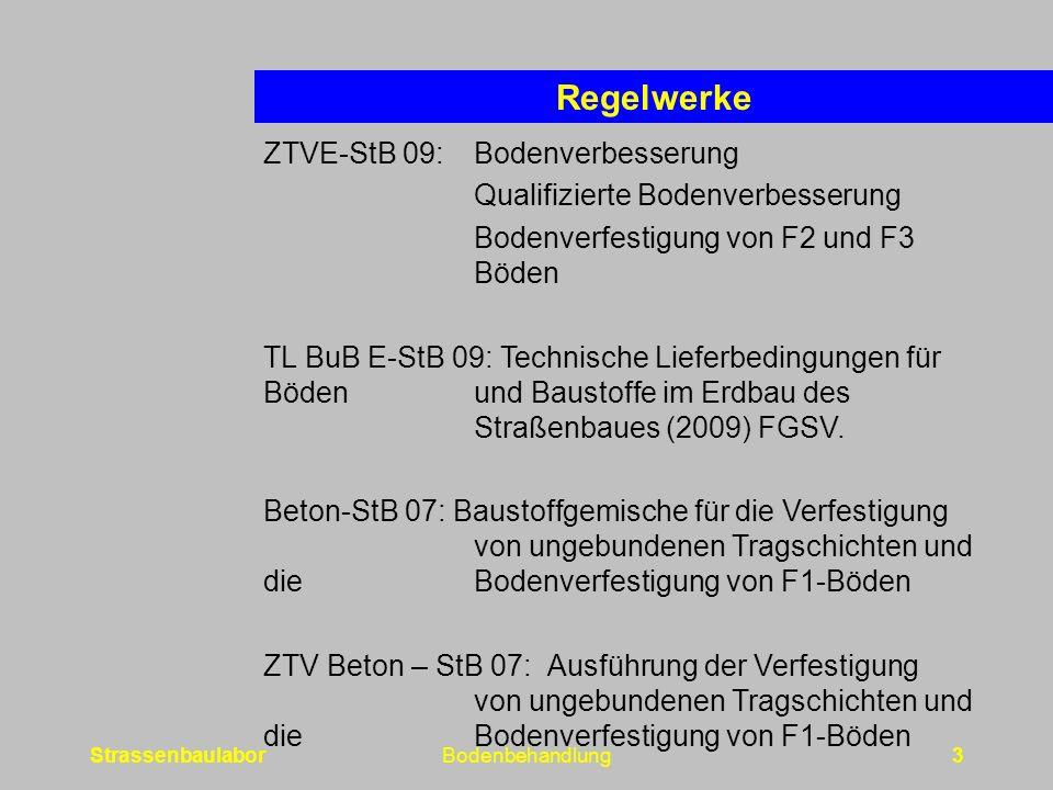 Regelwerke ZTVE-StB 09: Bodenverbesserung