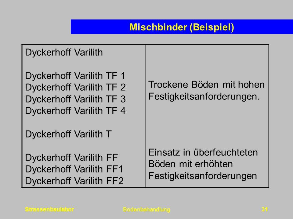 Mischbinder (Beispiel)