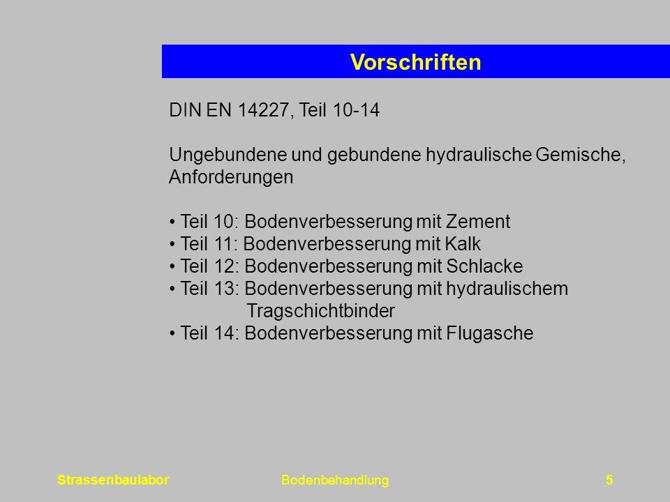 Vorschriften DIN EN 14227, Teil 10-14