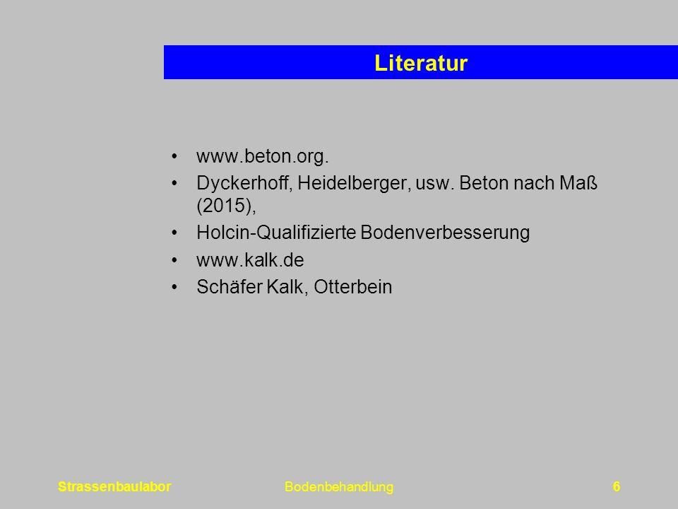 Literatur www.beton.org.