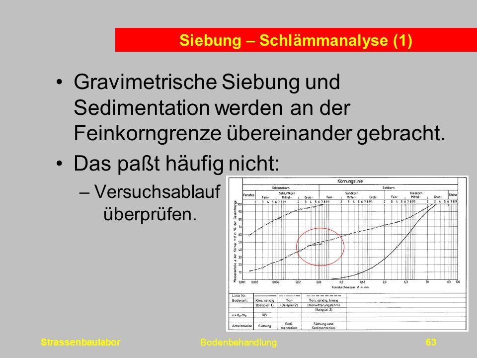 Siebung – Schlämmanalyse (1)