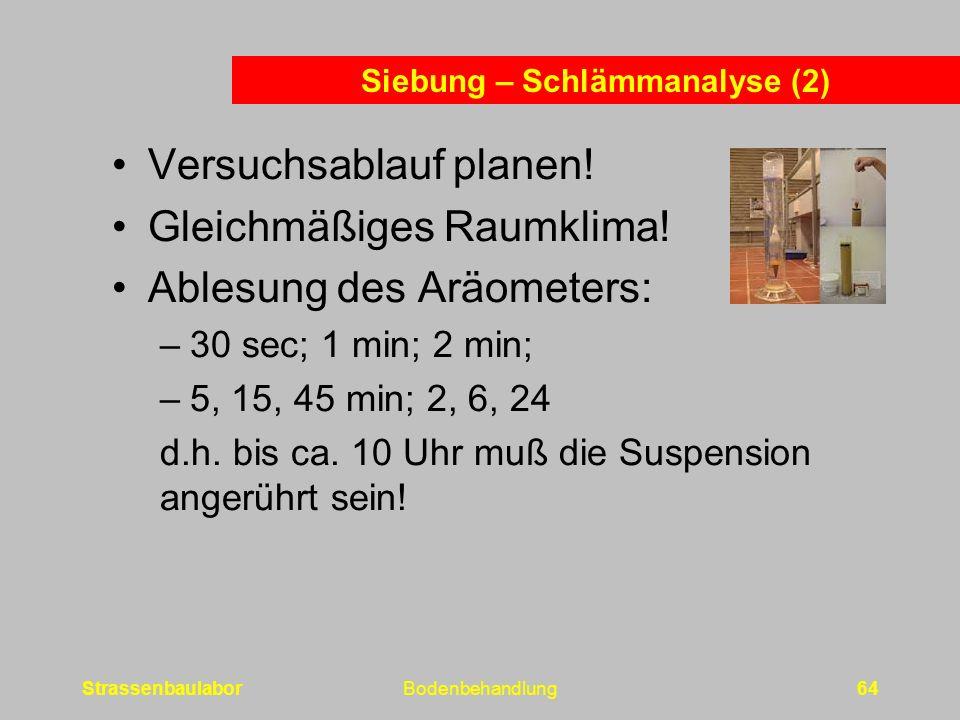 Siebung – Schlämmanalyse (2)