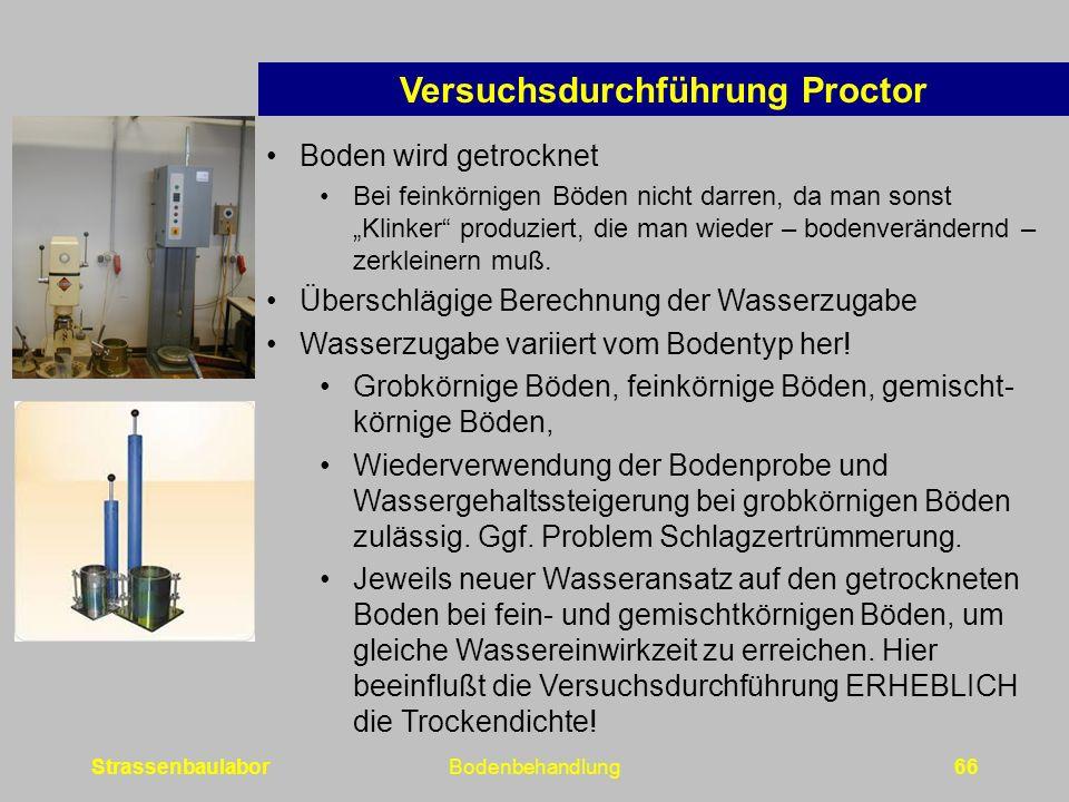 Versuchsdurchführung Proctor