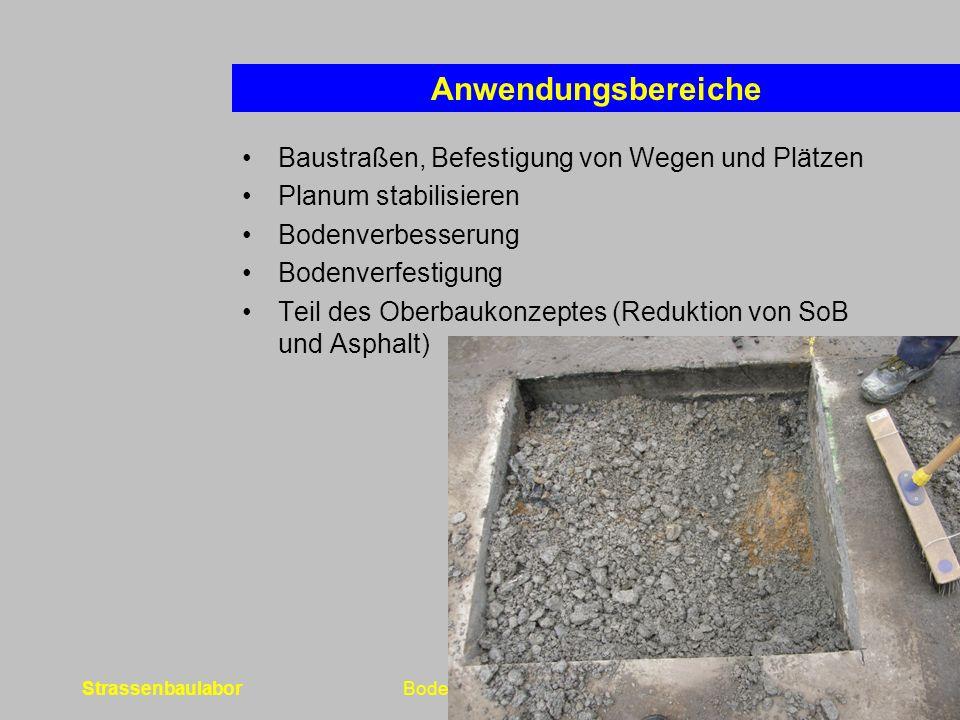 Anwendungsbereiche Baustraßen, Befestigung von Wegen und Plätzen