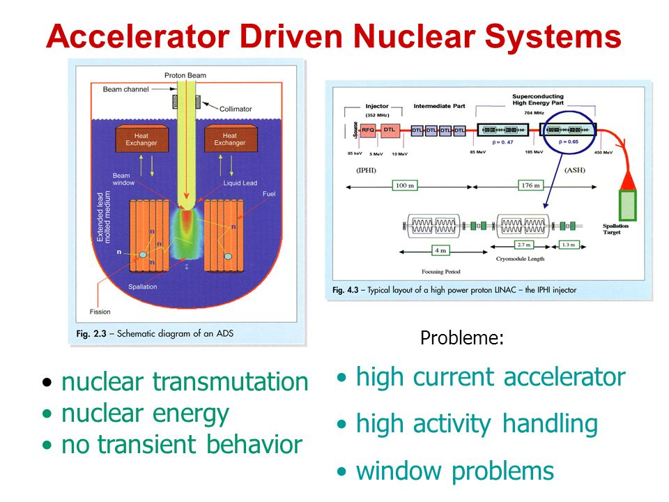 Accelerator Driven Nuclear Systems