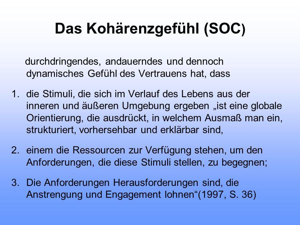 Das Kohärenzgefühl (SOC)