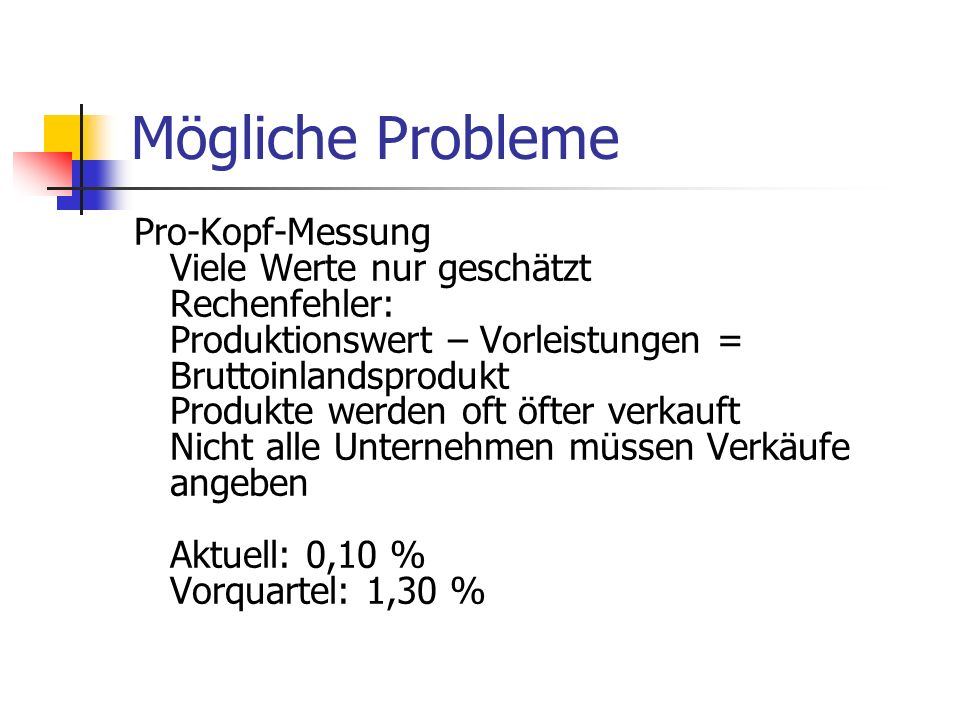 Mögliche Probleme