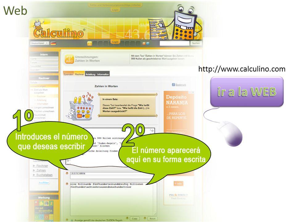 Web http://www.calculino.com ir a la WEB