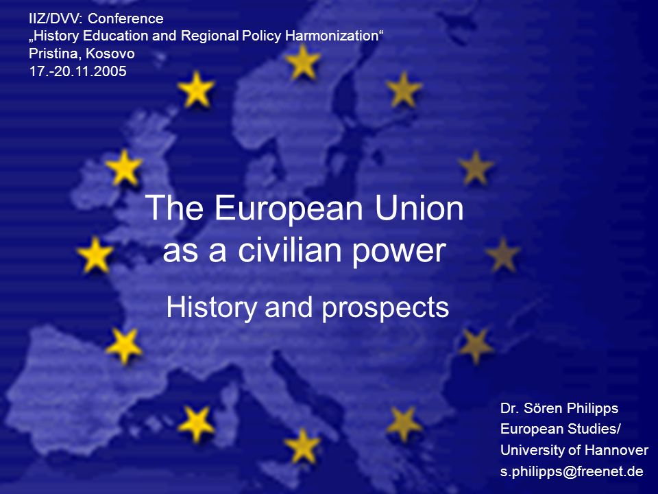 The European Union as a civilian power