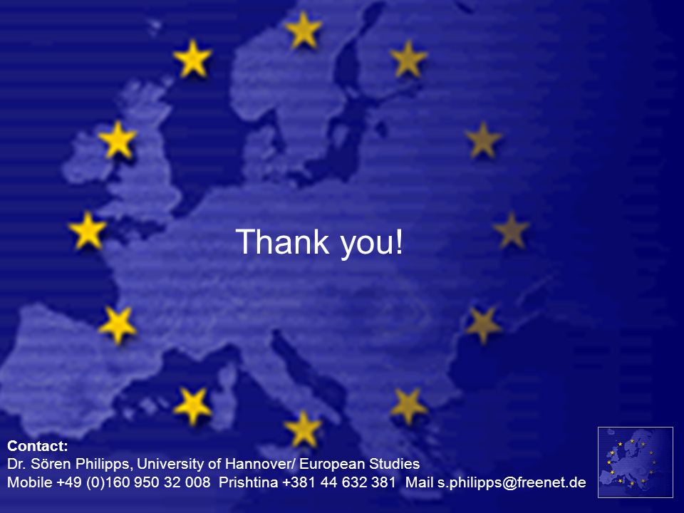 Thank you! Contact: Dr. Sören Philipps, University of Hannover/ European Studies.