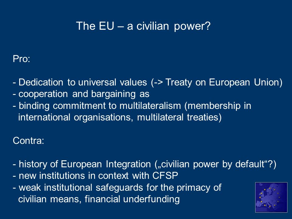 The EU – a civilian power