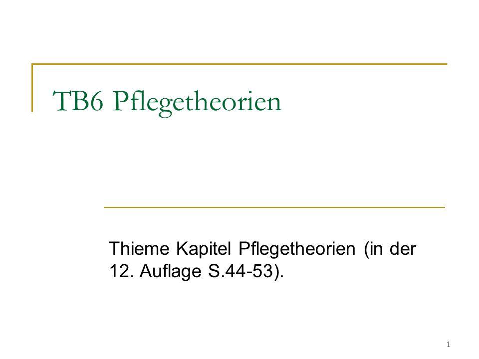 Thieme Kapitel Pflegetheorien (in der 12. Auflage S.44-53).