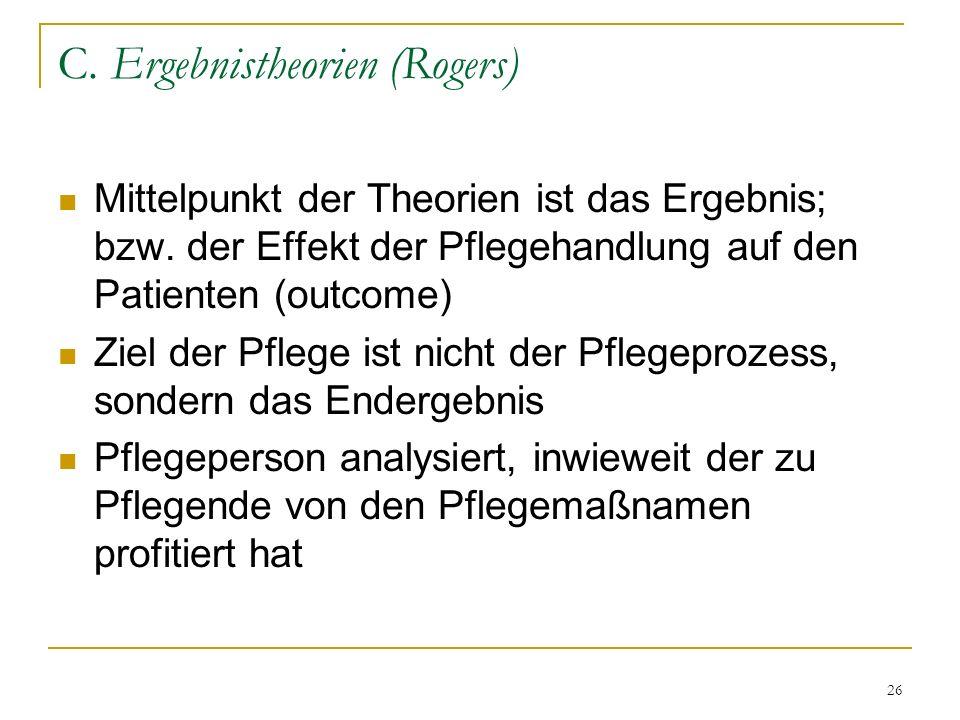 C. Ergebnistheorien (Rogers)
