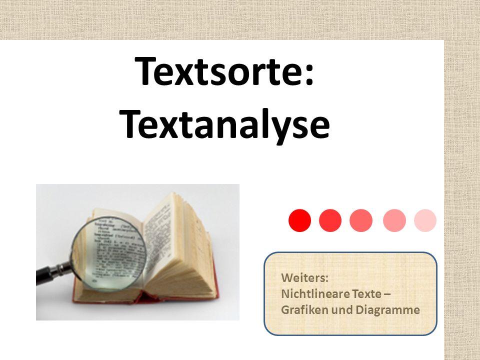Textsorte: Textanalyse