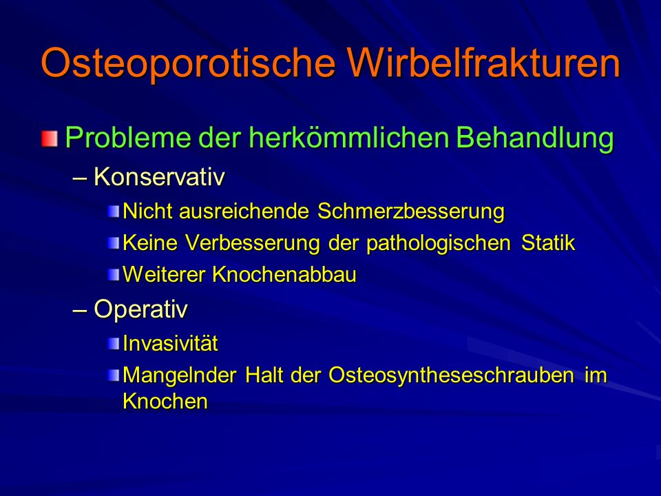 Osteoporotische Wirbelfrakturen