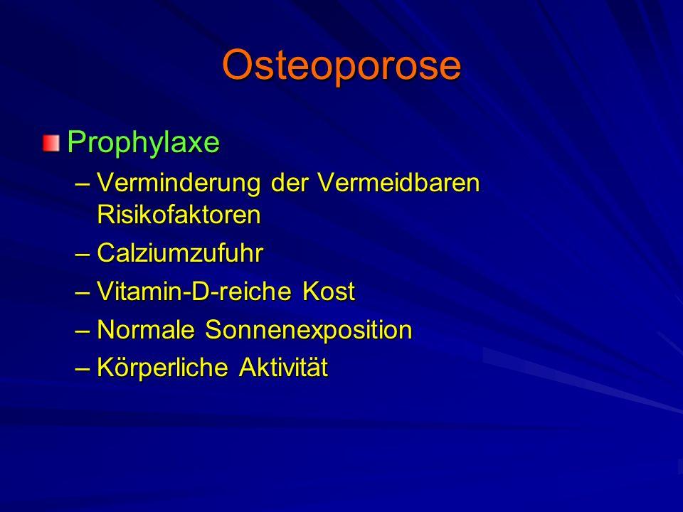 Osteoporose Prophylaxe Verminderung der Vermeidbaren Risikofaktoren