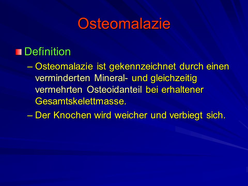 Osteomalazie Definition