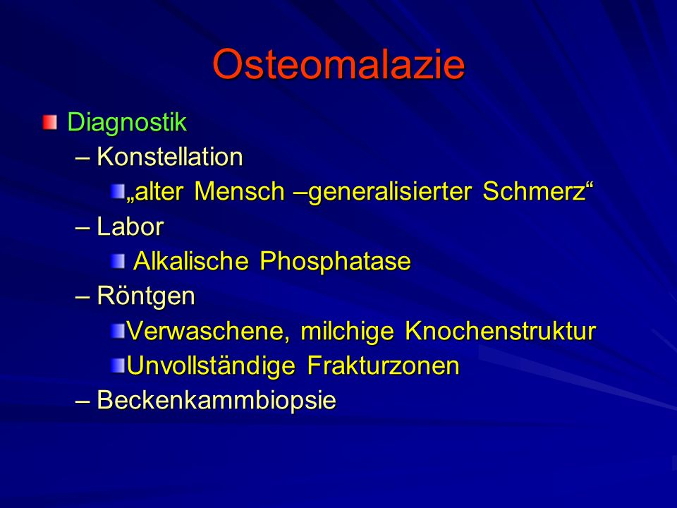 Osteomalazie Diagnostik Konstellation