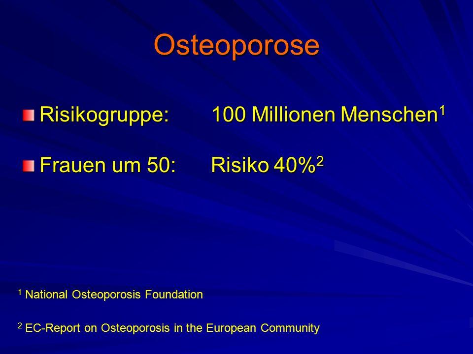 Osteoporose Risikogruppe: 100 Millionen Menschen1