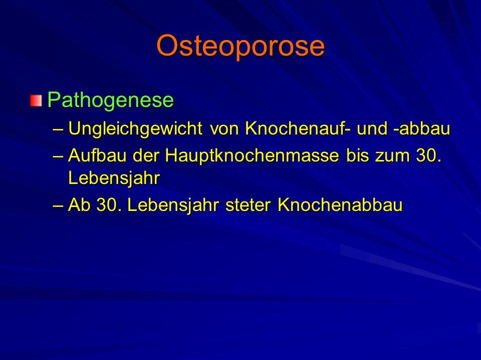 Osteoporose Pathogenese Ungleichgewicht von Knochenauf- und -abbau