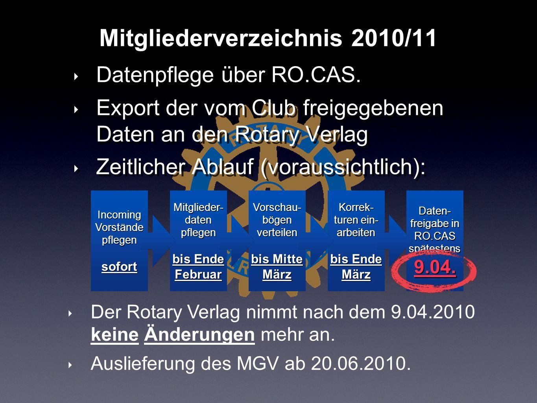 Mitgliederverzeichnis 2010/11