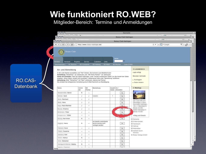 Wie funktioniert RO.WEB