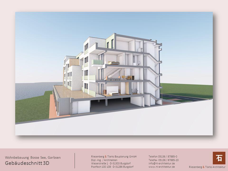 Gebäudeschnitt 3D Wohnbebauung Bosse See, Garbsen