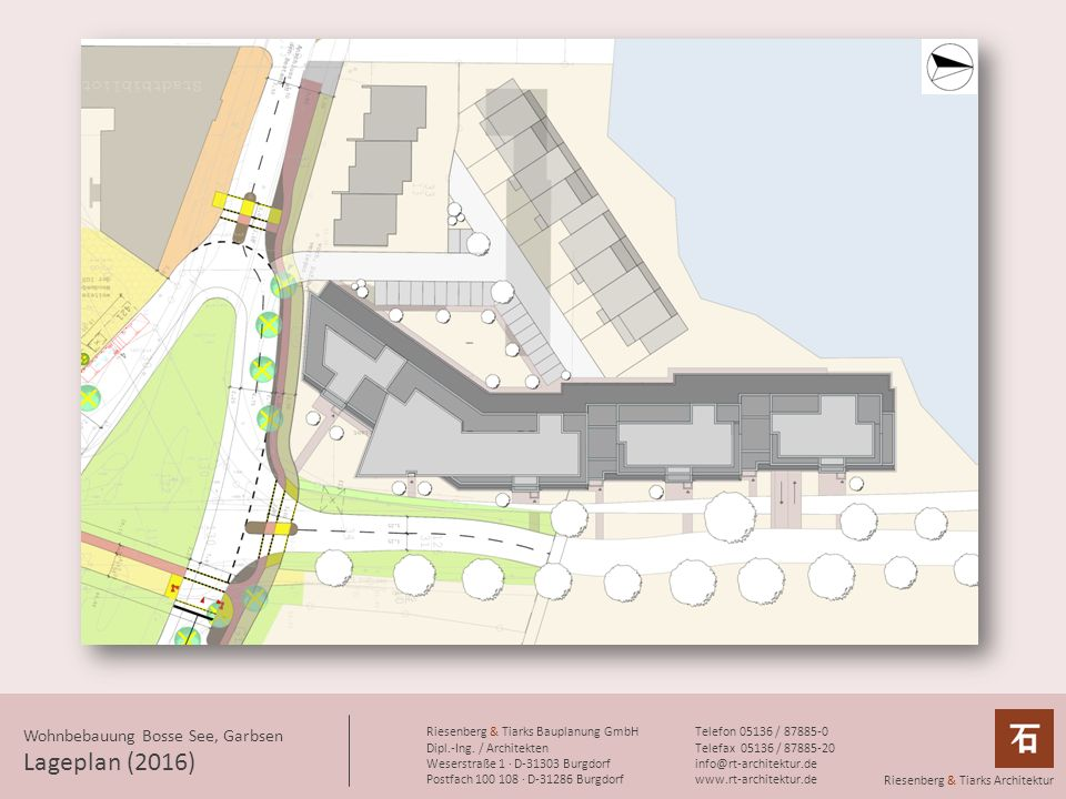 Lageplan (2016) Wohnbebauung Bosse See, Garbsen
