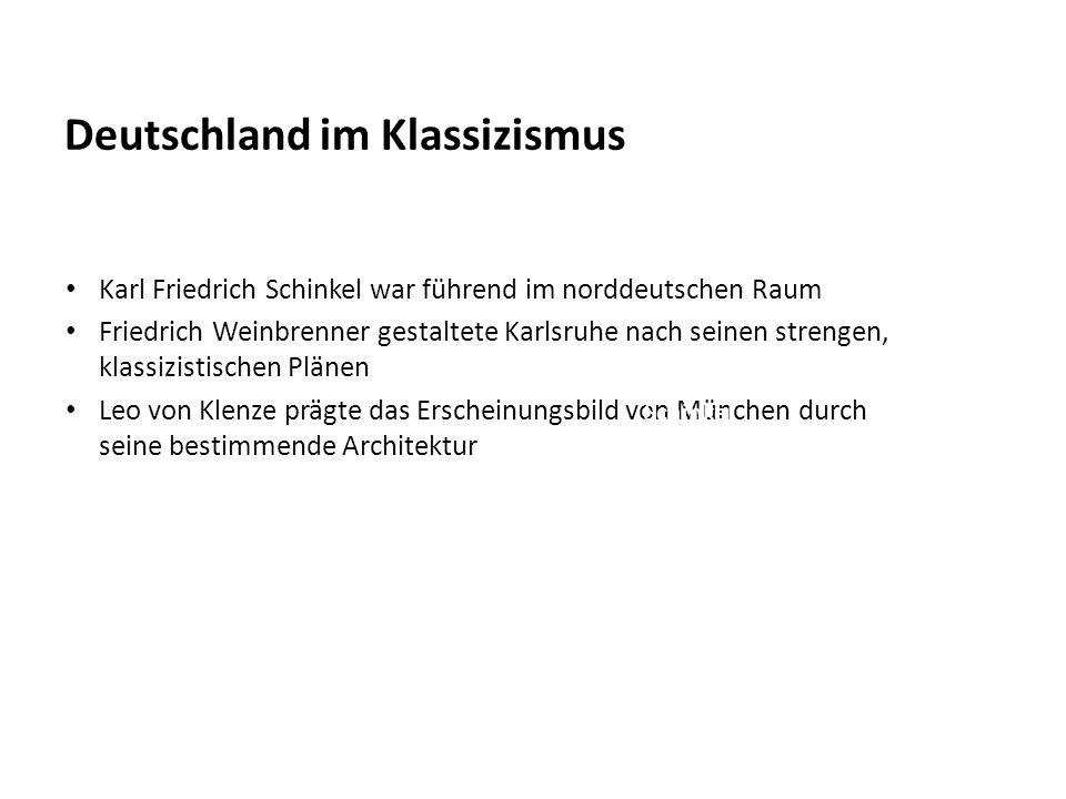 Deutschland im Klassizismus