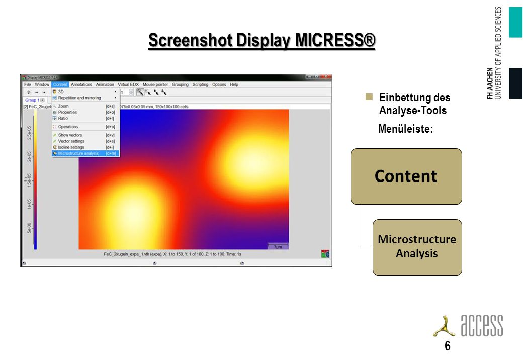 Screenshot Display MICRESS®