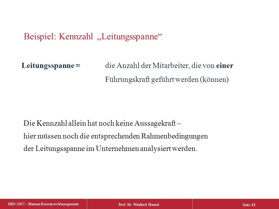 """Beispiel: Kennzahl """"Leitungsspanne"""