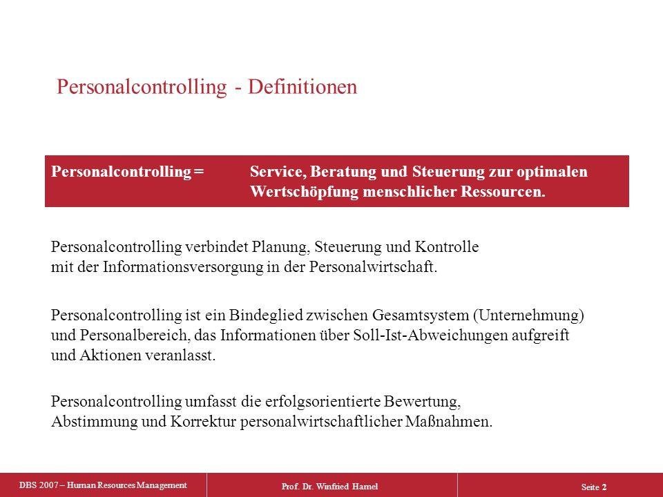Personalcontrolling - Definitionen