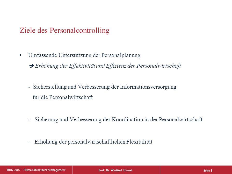 Ziele des Personalcontrolling