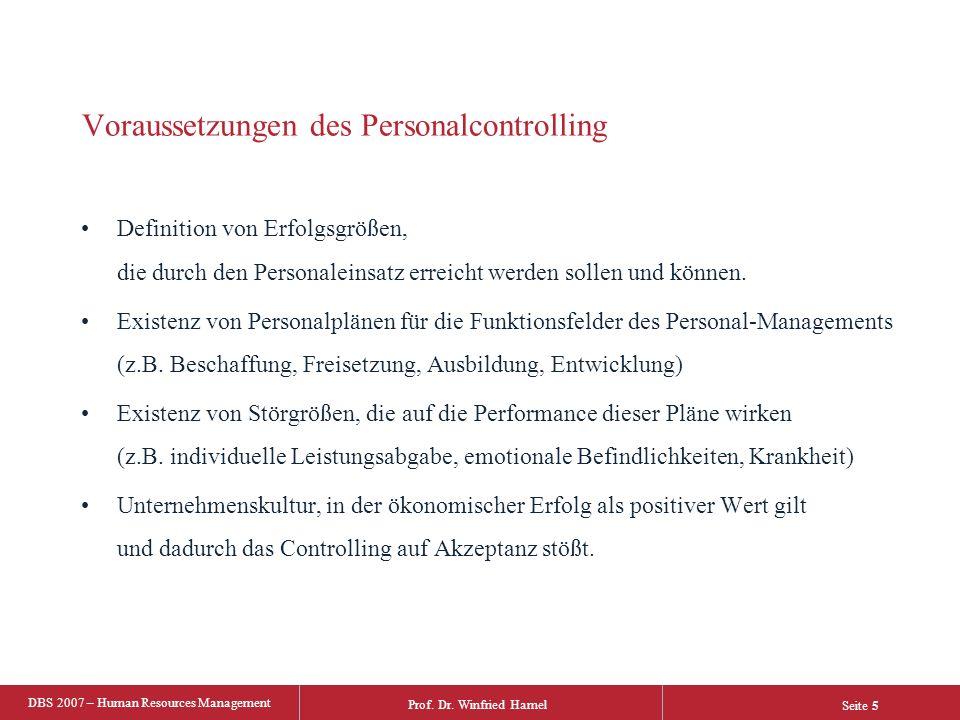 Voraussetzungen des Personalcontrolling