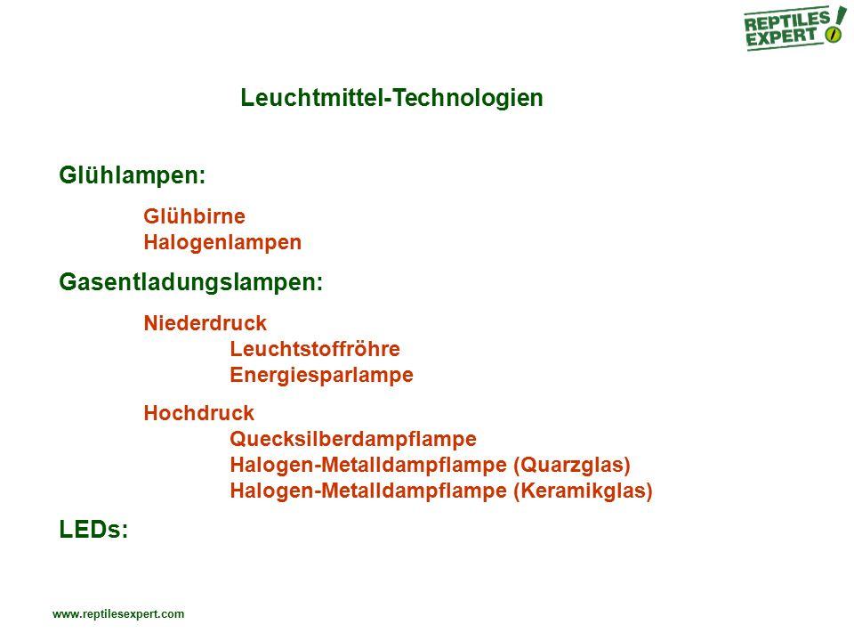 Leuchtmittel-Technologien