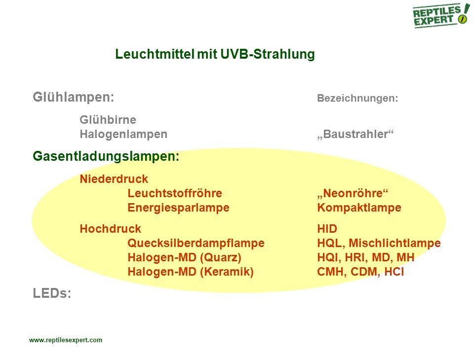 Leuchtmittel mit UVB-Strahlung