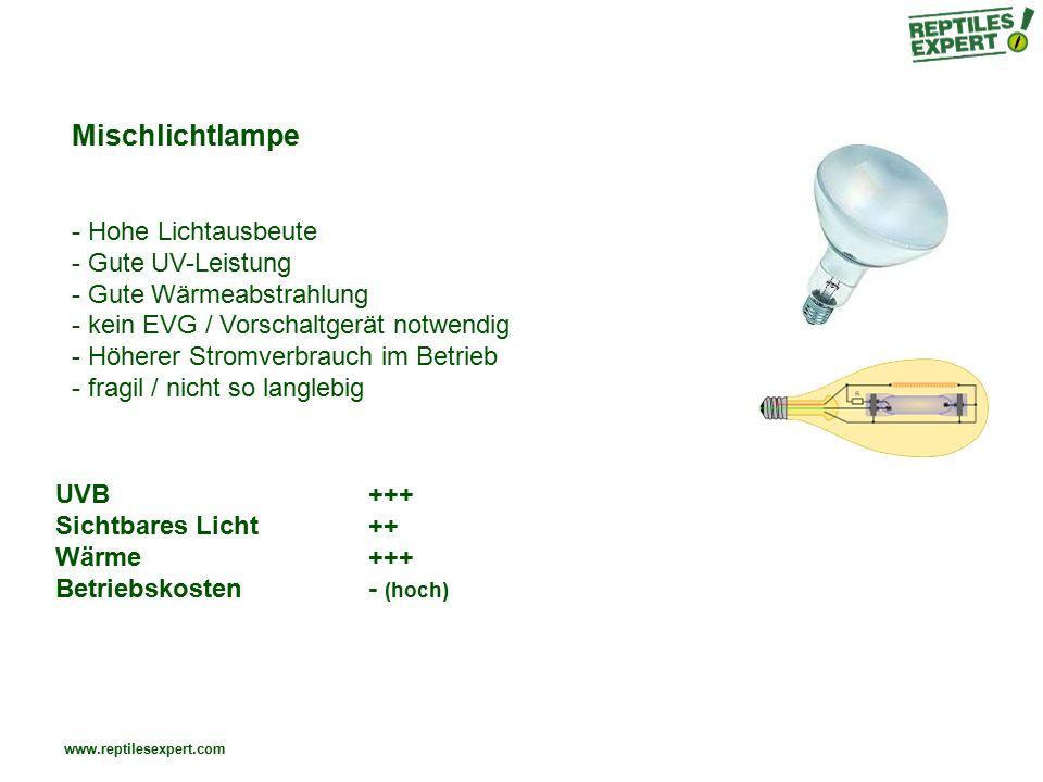 Mischlichtlampe Hohe Lichtausbeute Gute UV-Leistung
