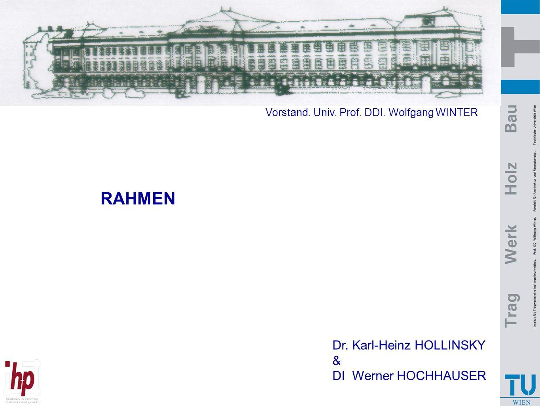 RAHMEN Dr. Karl-Heinz HOLLINSKY & DI Werner HOCHHAUSER