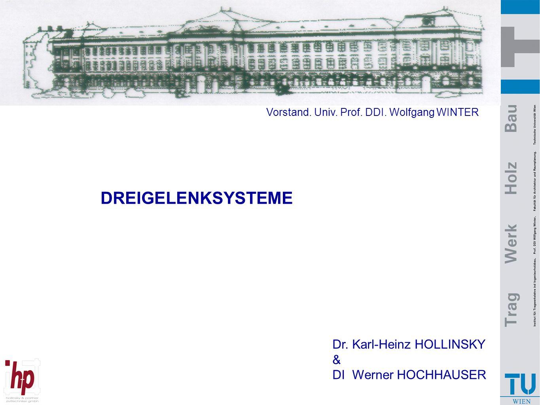 DREIGELENKSYSTEME Dr. Karl-Heinz HOLLINSKY & DI Werner HOCHHAUSER