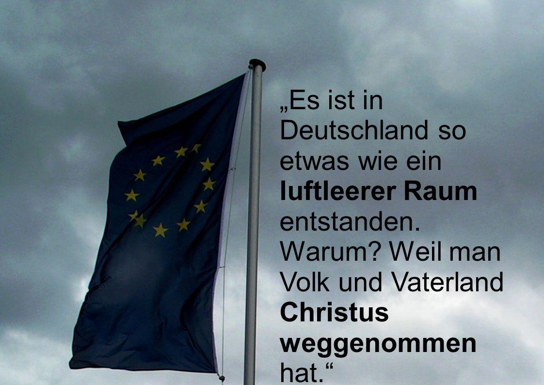 """""""Es ist in Deutschland so etwas wie ein luftleerer Raum entstanden"""