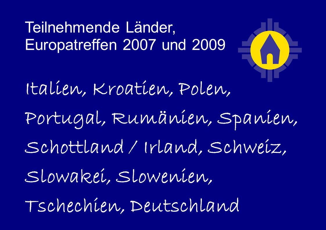 Teilnehmende Länder, Europatreffen 2007 und 2009