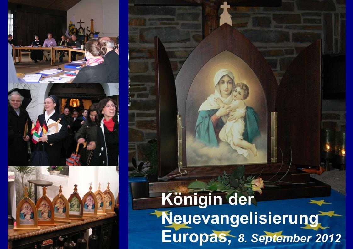 Königin der Neuevangelisierung Europas, 8. September 2012