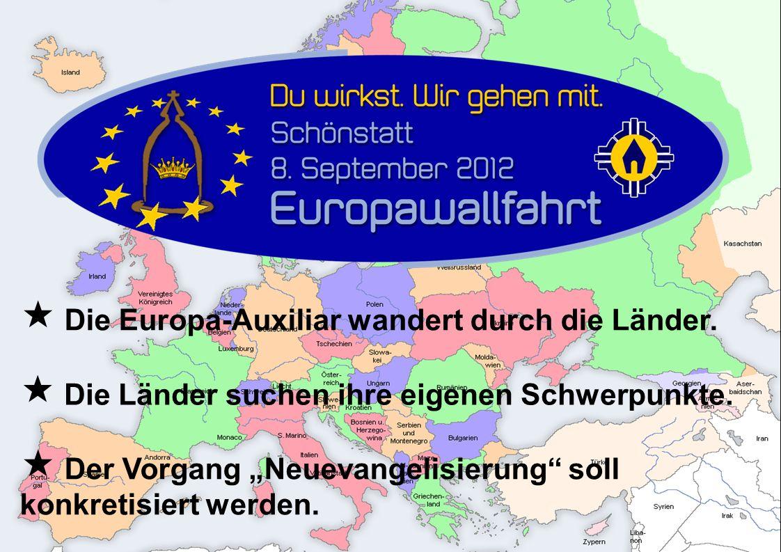  Die Europa-Auxiliar wandert durch die Länder.