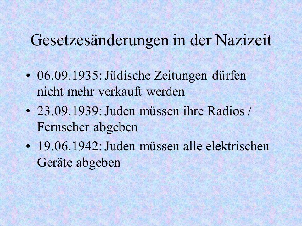Gesetzesänderungen in der Nazizeit