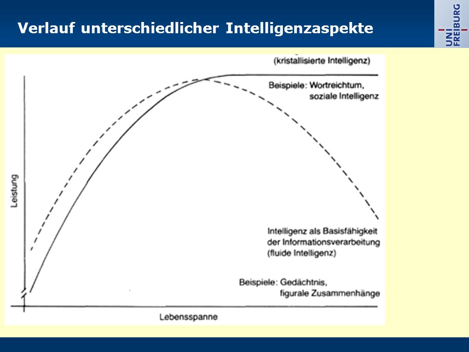 Verlauf unterschiedlicher Intelligenzaspekte