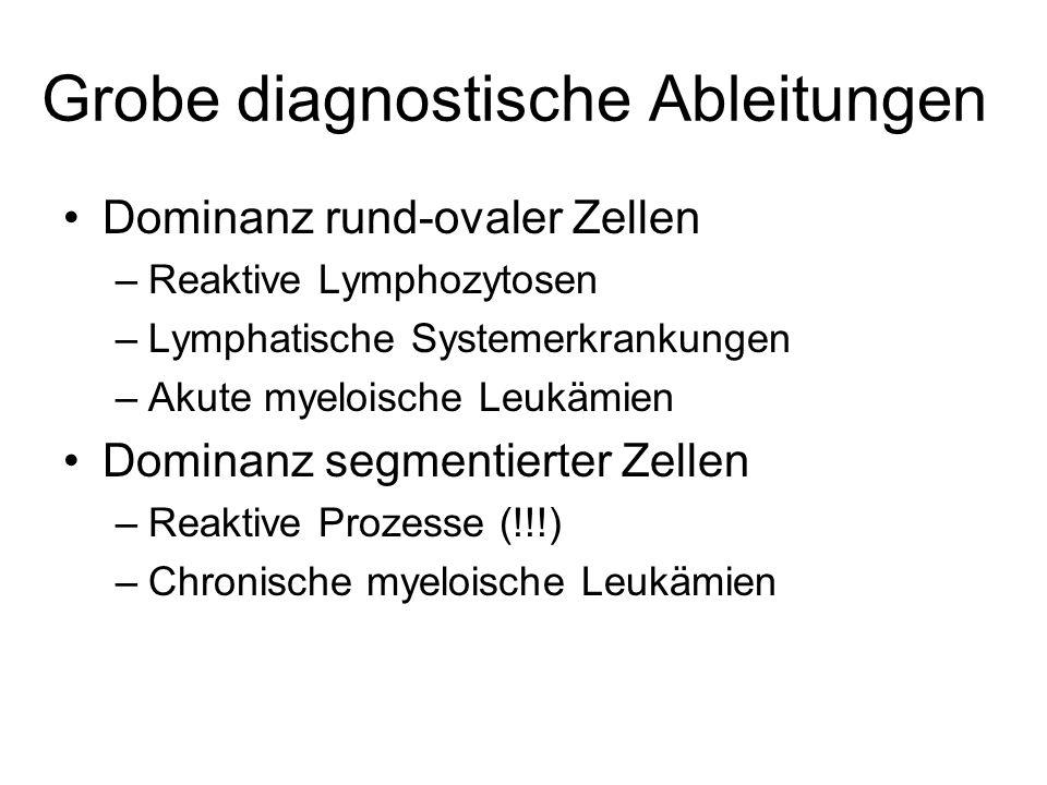 Grobe diagnostische Ableitungen